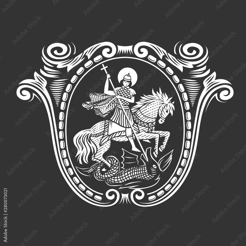 Fototapety, obrazy: Saint George. Vector illustration.