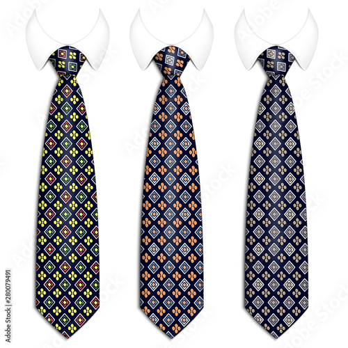 Photo A set of ties for men's suits