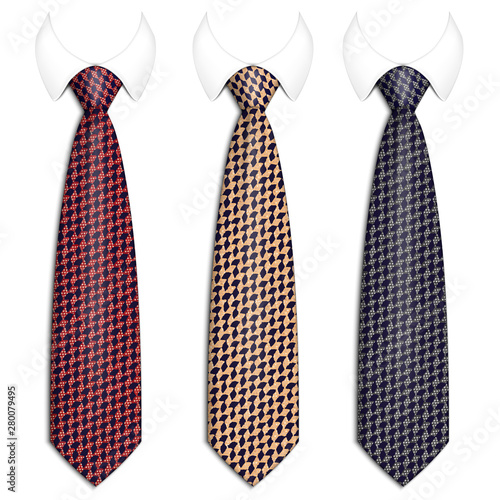 Canvas-taulu A set of ties for men s suits
