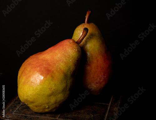 Anjou Pears in Still Life Wallpaper Mural