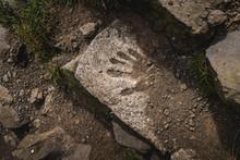 Handprint On Concrete Faroe Islands