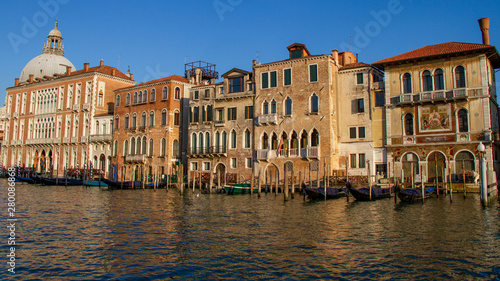 Venice buildings along the Grand Canal in Venice, Italy