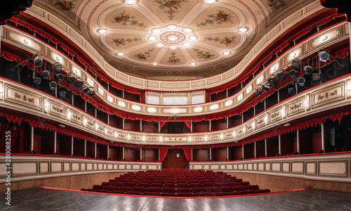 Fotografia, Obraz Theater building is 200 years old, a view from the inside