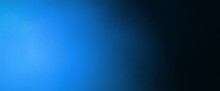Abstract Blue And Black Background Banner With Bright Blue Spotlight And Gradient Colors With Faint Texture