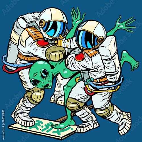Photo Storm Area 51. Astronauts arrested an alien