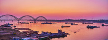 Panorama Of Irrawaddy River An...