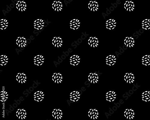 Black and White Abstract Marks Dot Pattern