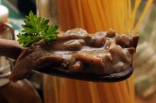 Condimento Di Funghi Ft8107_0319 E Spaghetti
