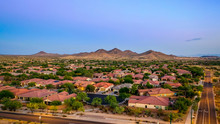 Aerial View Of A Desert Commun...
