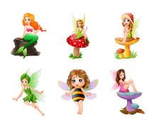 Cartoon Cute Fairy Illustration Collections