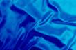 Leinwandbild Motiv Blue satin fabric texture background