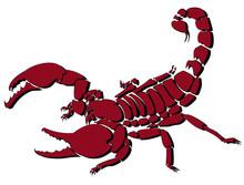 Red Vector Scorpion Illustrati...