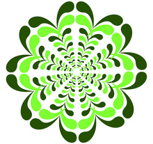 Abstract Fractal Vector Green Flower Symbol Icon Logo