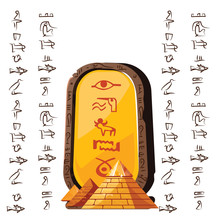 Stone Board Or Clay Tablet Wit...