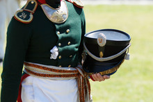 Uniform Of Soldiers During The Russian-French War Of 1812. The Guns And Drums Of 1812.