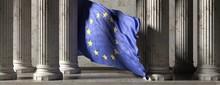 EU Flag, Classic Columns Histo...