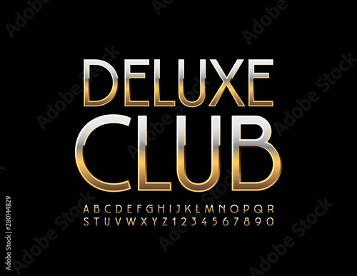 Photo  Vector chic emblem Deluxe Club