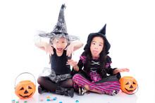 Asian Children Wearing Hallowe...