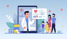 Social Media Template, Mobile App Family Doctor