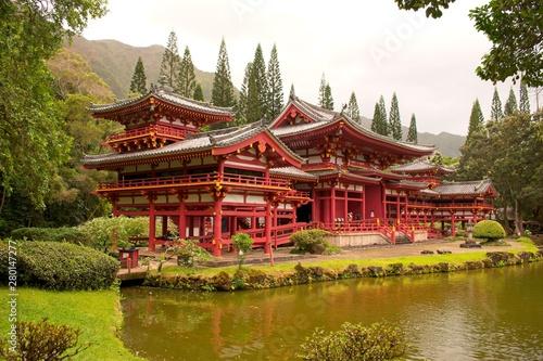Carta da parati  The Byodo_In Temple in Kaneohe, Hawaa