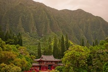 View To The Byodo-In Temple In...