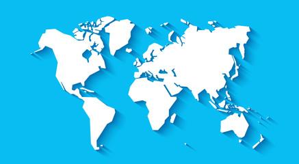 Simplified world map. Styli...