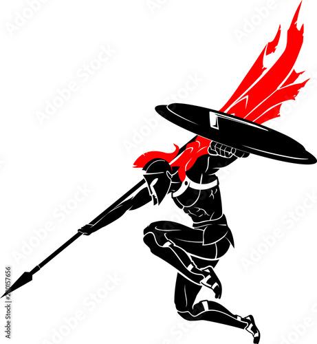 Spartan Spear Drop Slika na platnu