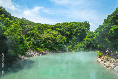 Foto op Aluminium Indonesië scene of thermal valley at beitou, taipei, taiwan