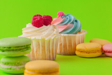 Set Of Various  Fondant Cupcakes Ready To Be Eaten - Bright And Colorful Set