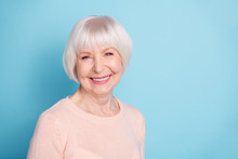 Close-up Portrait Of Her She Nice-looking Attractive Lovely Kind Healthy Well-groomed Cheerful Cheery Glad Gray-haired Lady Enjoying Spring Isolated Over Bright Vivid Shine Blue Green Teal Background