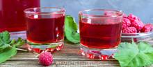 Raspberry Liqueur In Glass, Fr...