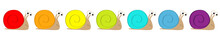 Snail Icon Set Line. Insect Is...