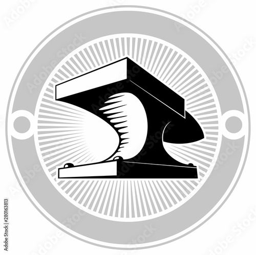 Photo Blacksmith anvil, vector logo design concept.