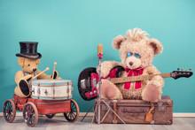 Retro Teddy Bear Toys With Pla...