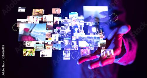 Fotografija Internet broadband and multimedia streaming entertainment