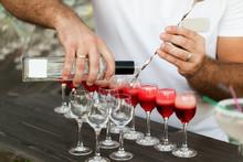 Bartender Hands Pouring Alcoho...