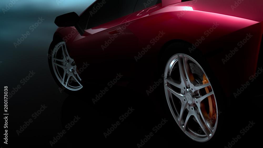 Fototapety, obrazy: sports car.