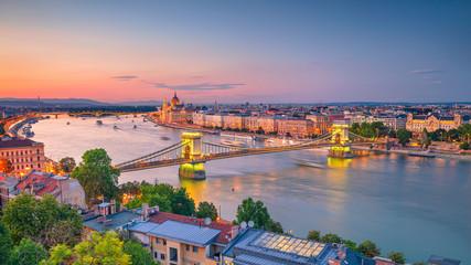Budapest, Hungary. Aerial c...