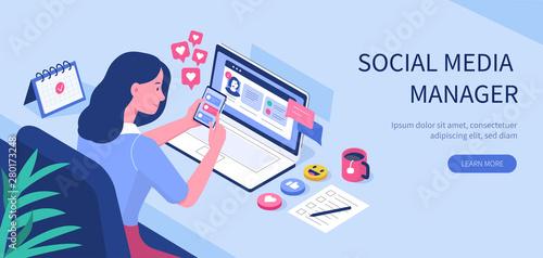 Cuadros en Lienzo social media manager