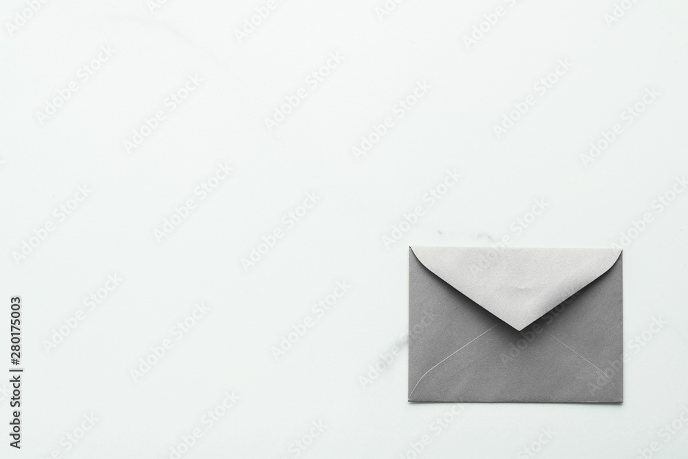 Fototapety, obrazy: Blank paper envelopes on marble flatlay background, holiday mail letter or post card message design