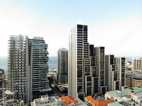 Fototapety, obrazy: View from above on the Lebanon. Western Asia and Middle East country which is called also Lebanese Republic. Aerial photo created by drone. Beirut - big and beautiful capital.
