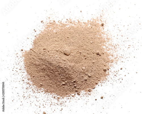 Papiers peints Nature Milled chocolate powder isolated on white background