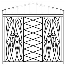 Wrought Iron Gate, Ornamental ...