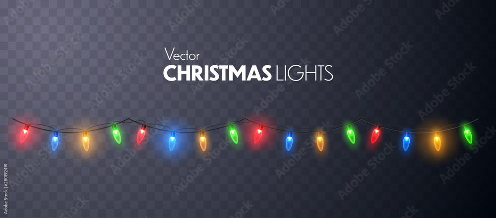 Fototapeta Christmas Lights garland