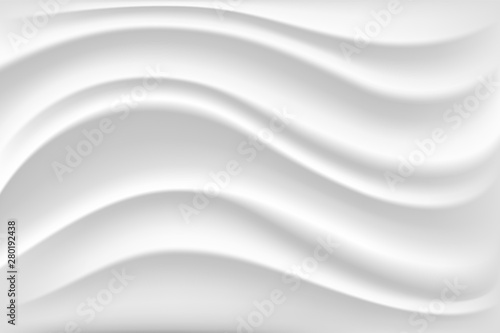 Fotografie, Obraz  Cream wave texture in white color