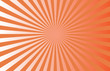 canvas print picture - orange and white linear gradient sunburst background