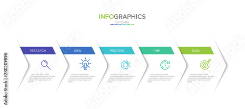 Fotografia, Obraz Vector infographic label template with icons