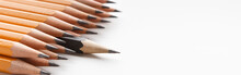 One Black Pencil Protruding In...