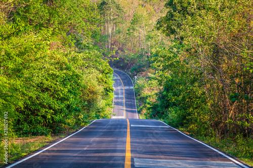 Fototapeta Road Upward Through the Mountain