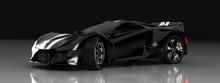 Modern Black Sports Car ,3d ,r...